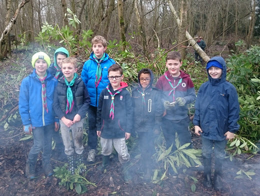 Cubs and Scouts At Hayley Green Wood