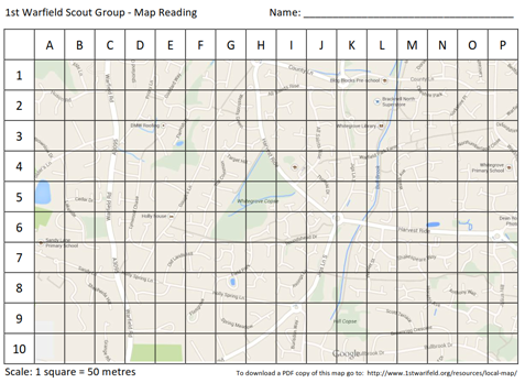 Map of Warfield Area